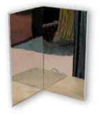 Настенное небьющееся зеркало без подсветки